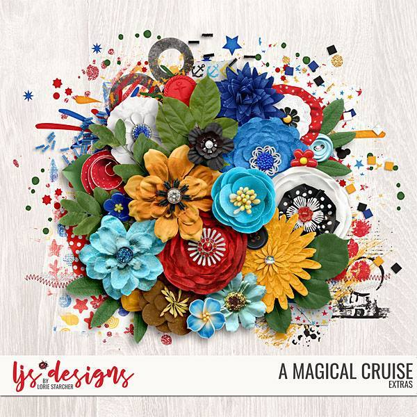 A Magical Cruise Extras Digital Art - Digital Scrapbooking Kits