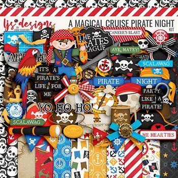 A Magical Cruise Pirate Night Digital Art - Digital Scrapbooking Kits