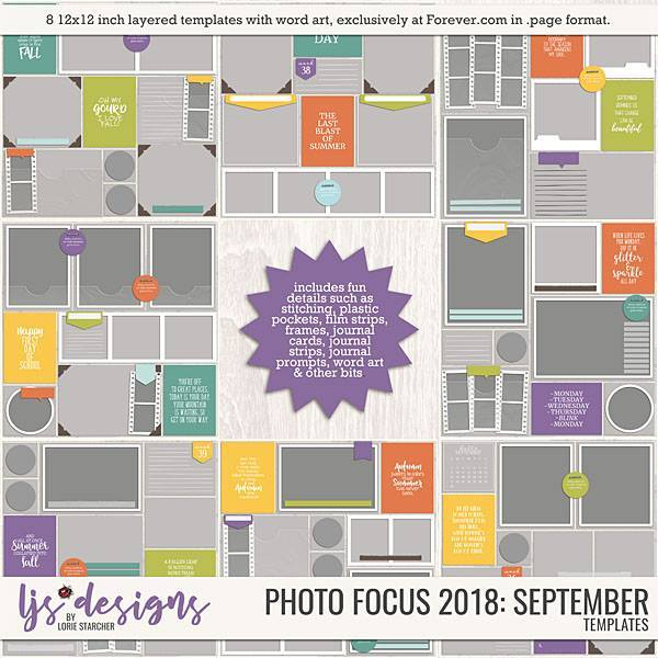 Photo Focus 2018 September Digital Art - Digital Scrapbooking Kits