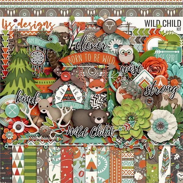 Wild Child 2.0 Digital Art - Digital Scrapbooking Kits