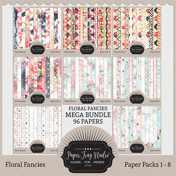 Floral Fancies - Mega Collection Digital Art - Digital Scrapbooking Kits