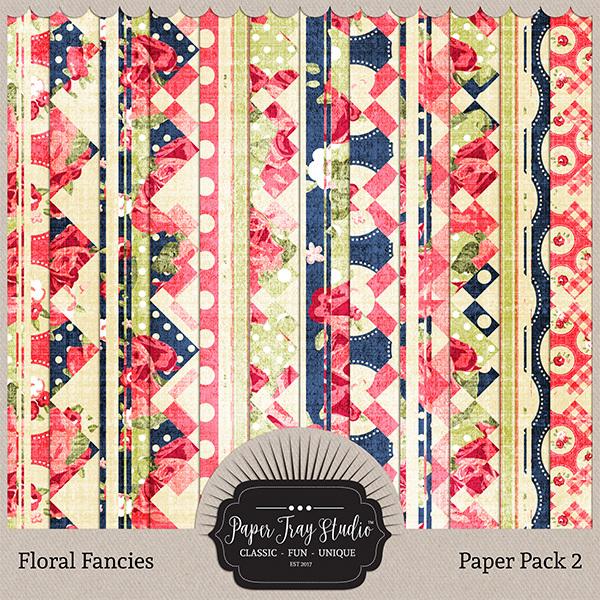 Floral Fancies - Set 2 Digital Art - Digital Scrapbooking Kits