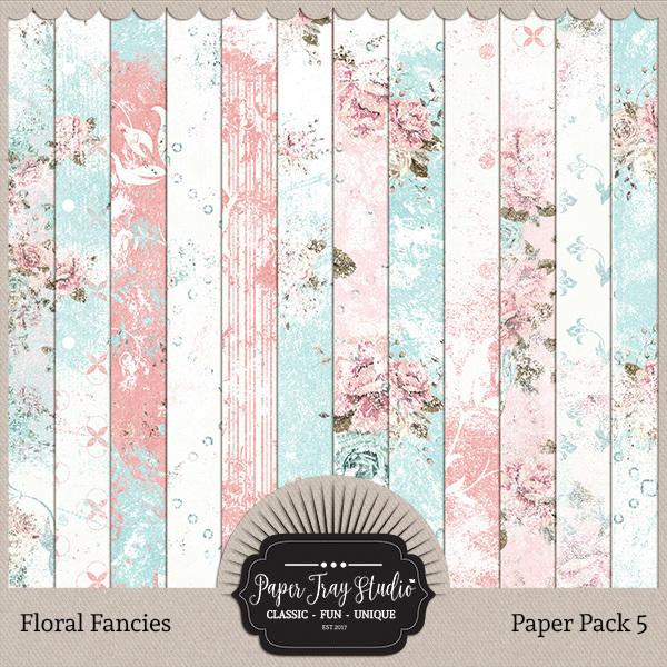 Floral Fancies - Set 5 Digital Art - Digital Scrapbooking Kits