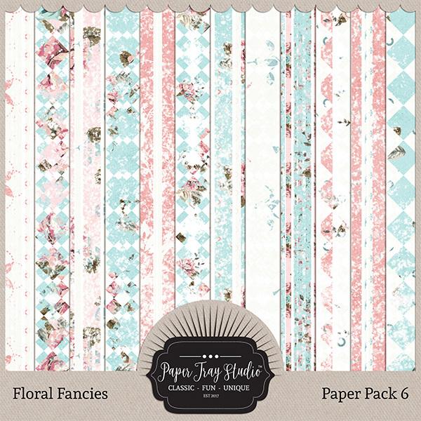 Floral Fancies - Set 6 Digital Art - Digital Scrapbooking Kits