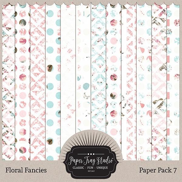 Floral Fancies - Set 7 Digital Art - Digital Scrapbooking Kits