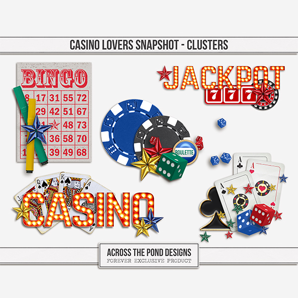 Casino Lovers Snapshot - Clusters Digital Art - Digital Scrapbooking Kits