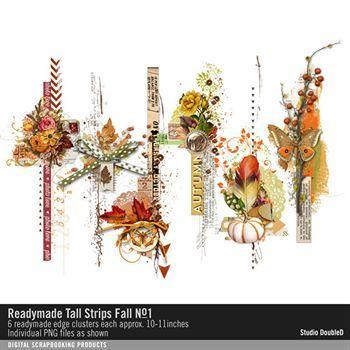 Readymade Tall Strips Fall No. 01 Digital Art - Digital Scrapbooking Kits