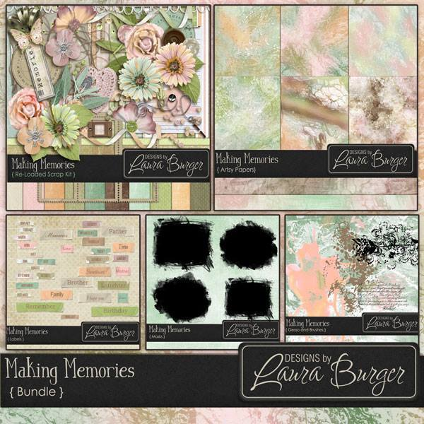 Making Memories Bundled Collection Digital Art - Digital Scrapbooking Kits