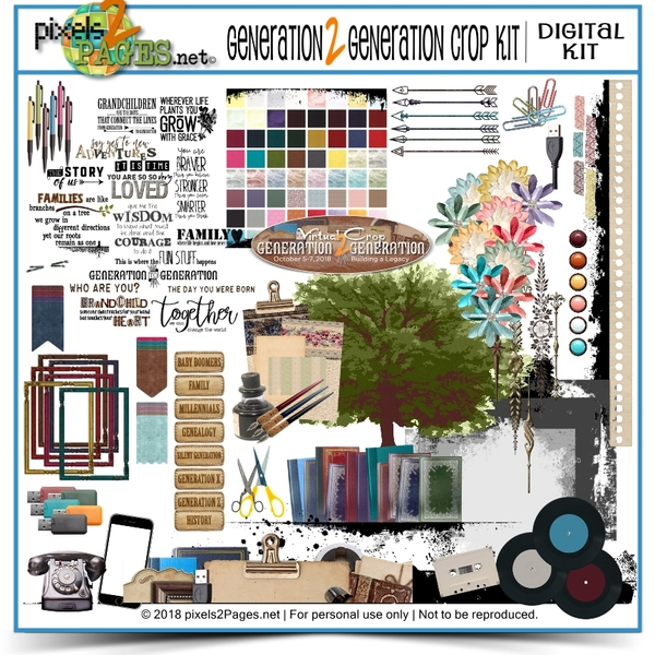Generation2Generation Crop Kit Digital Art - Digital Scrapbooking Kits