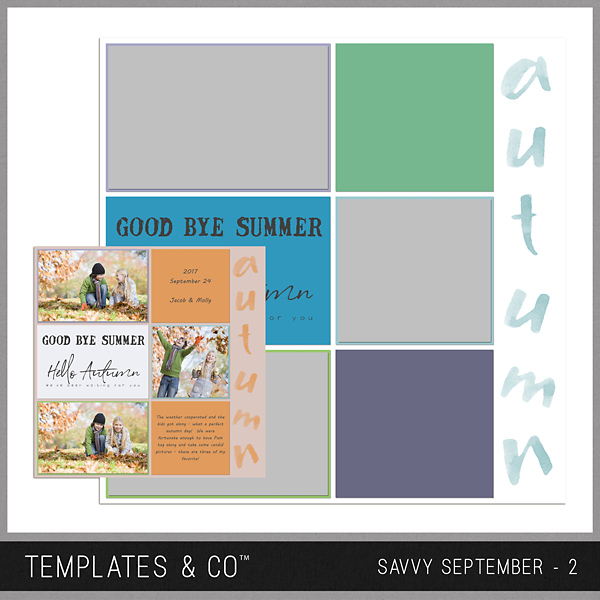 Savvy September 2 Digital Art - Digital Scrapbooking Kits