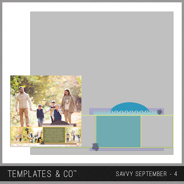 Savvy September 4 Digital Art - Digital Scrapbooking Kits