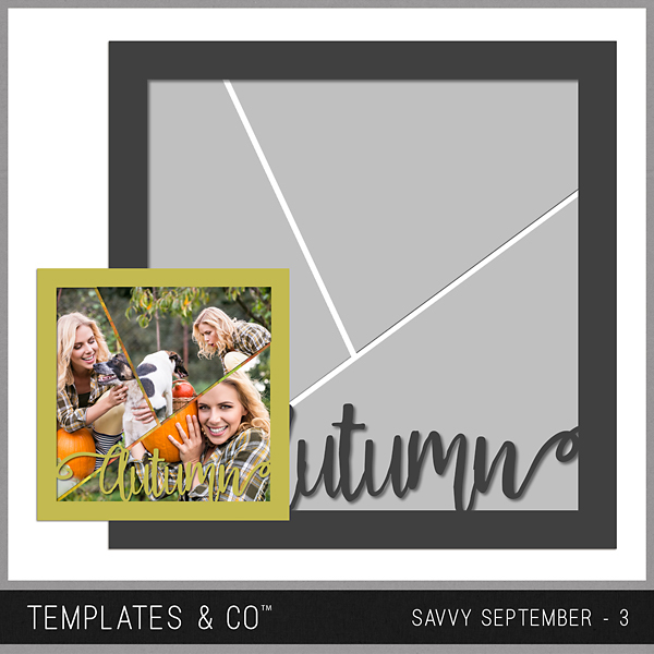 Savvy September 3 Digital Art - Digital Scrapbooking Kits