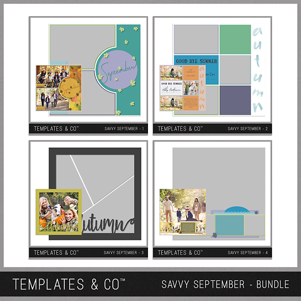 Savvy September Bundle Digital Art - Digital Scrapbooking Kits