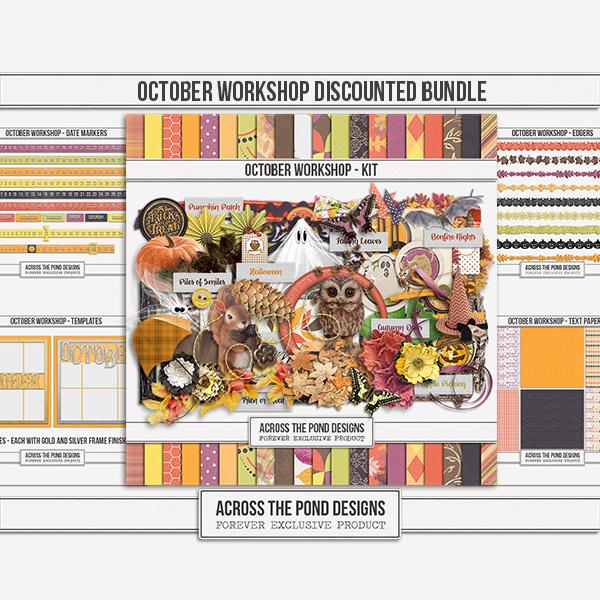October Workshop - Discounted Bundle Digital Art - Digital Scrapbooking Kits