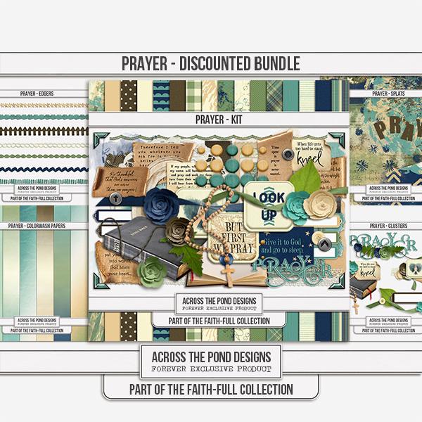 Faithfull Series - Prayer Discounted Bundle Digital Art - Digital Scrapbooking Kits