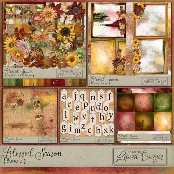 Blessed Season Bundle Exclusive Digital Art - Digital Scrapbooking Kits