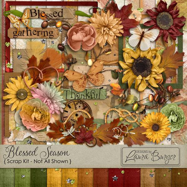 Blessed Season Scrap Kit Exclusive Digital Art - Digital Scrapbooking Kits