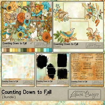 Counting Down To Fall Bundle Digital Art - Digital Scrapbooking Kits