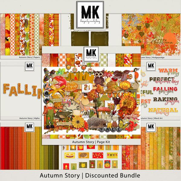 Autumn Story - Discounted Bundle Digital Art - Digital Scrapbooking Kits