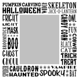 Halloween Subway Art Canvas