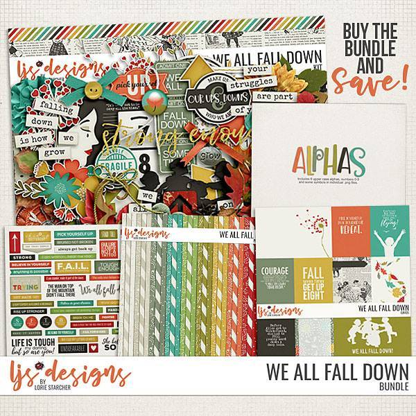 We All Fall Down Bundle Digital Art - Digital Scrapbooking Kits