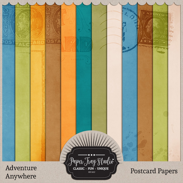 Adventure Anywhere Paper Packs - Set 2 Digital Art - Digital Scrapbooking Kits