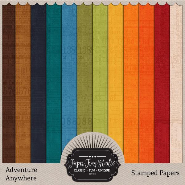 Adventure Anywhere Paper Packs - Set 3 Digital Art - Digital Scrapbooking Kits