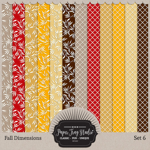 Fall Dimensions - Set 6 Digital Art - Digital Scrapbooking Kits