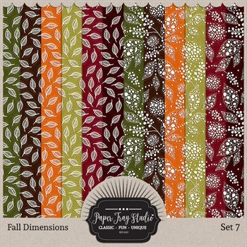 Fall Dimensions - Set 7 Digital Art - Digital Scrapbooking Kits