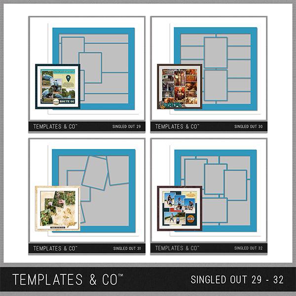 Singled Out 29 - 32 Digital Art - Digital Scrapbooking Kits