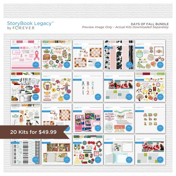 Days of Fall StoryBook Legacy™ Bundle Digital Art - Digital Scrapbooking Kits