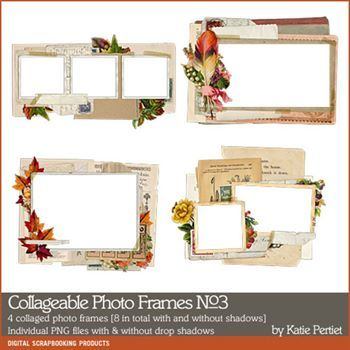 Collageable Photo Frames No. 03 Digital Art - Digital Scrapbooking Kits