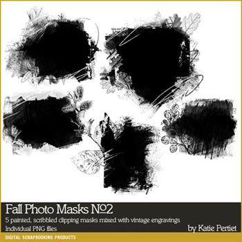 Fall Photo Masks No. 02 Brushes And Stamps Digital Art - Digital Scrapbooking Kits