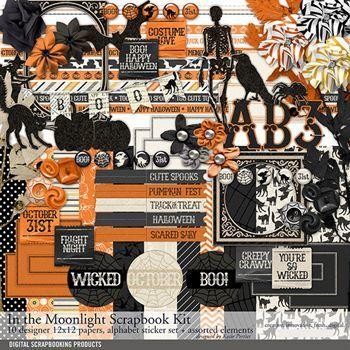 In The Moonlight Kit Digital Art - Digital Scrapbooking Kits