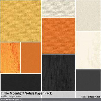 In The Moonlight Solids Paper Pack Digital Art - Digital Scrapbooking Kits