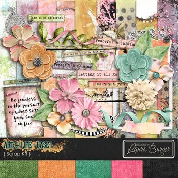 Art And Life Case 1 Digital Art - Digital Scrapbooking Kits