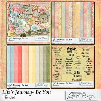 Life's Journey - Be You Bundle Digital Art - Digital Scrapbooking Kits