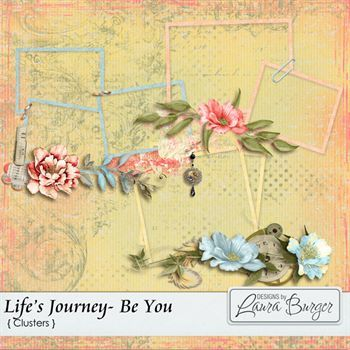 Life's Journey - Be You Clusters Digital Art - Digital Scrapbooking Kits