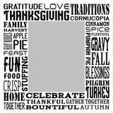 Thanksgiving Subway Art Canvas