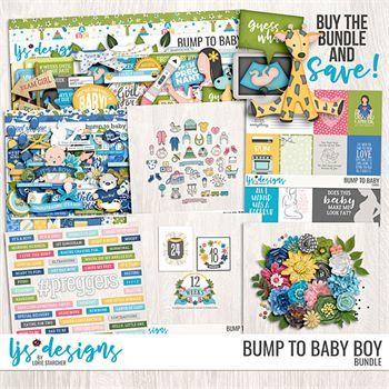 Bump To Baby Boy Bundle Digital Art - Digital Scrapbooking Kits