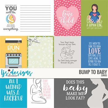 Bump To Baby Cards Digital Art - Digital Scrapbooking Kits