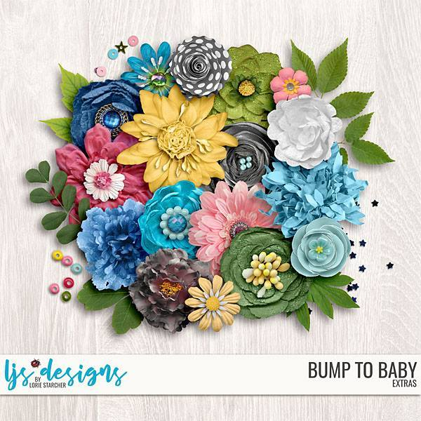 Bump To Baby Extras Digital Art - Digital Scrapbooking Kits