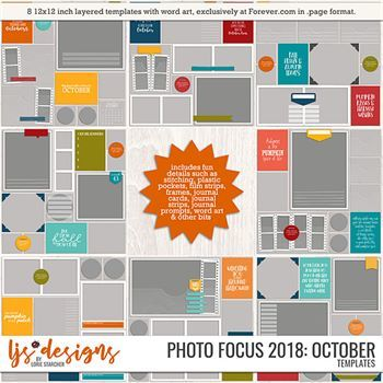 Photo Focus 2018 - October Digital Art - Digital Scrapbooking Kits
