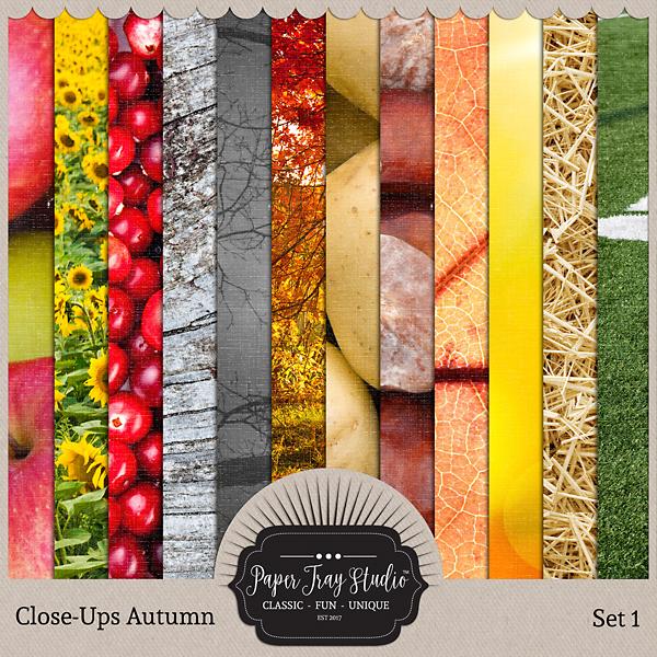 Close-ups Autumn - Set 1 Digital Art - Digital Scrapbooking Kits
