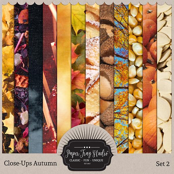 Close-ups Autumn - Set 2 Digital Art - Digital Scrapbooking Kits