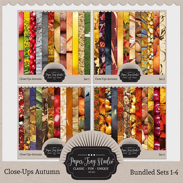Close-ups Autumn - Sets 1-4 Digital Art - Digital Scrapbooking Kits