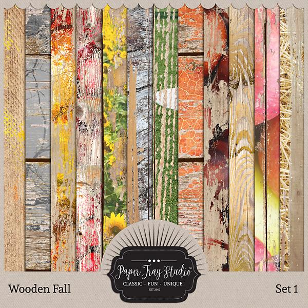 Wooden Fall - Set 1 Digital Art - Digital Scrapbooking Kits