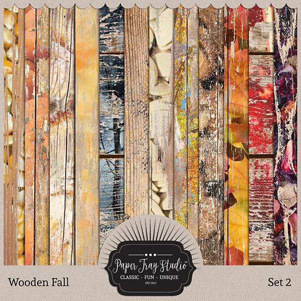 Wooden Fall - Set 2 Digital Art - Digital Scrapbooking Kits
