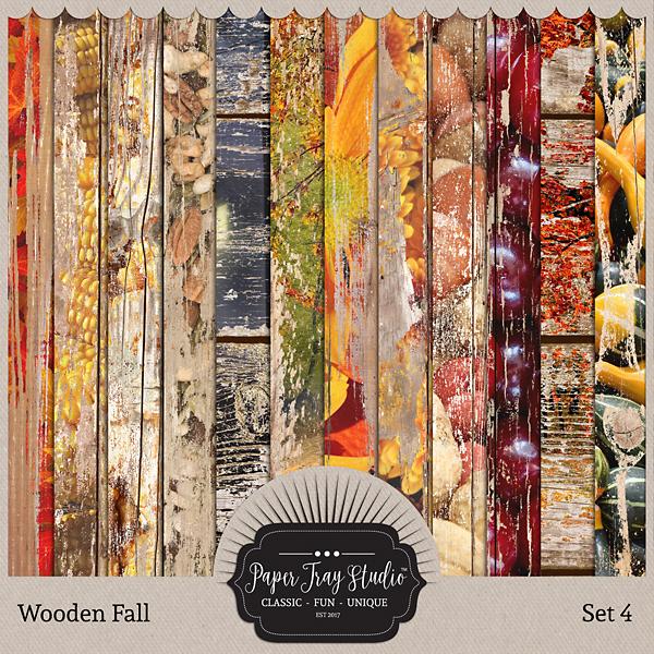 Wooden Fall - Set 4 Digital Art - Digital Scrapbooking Kits