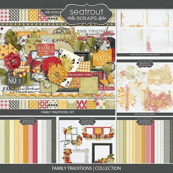 Family Traditions - Collection Digital Art - Digital Scrapbooking Kits